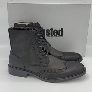 Unlisted by Kenneth Cole Black Buzzer Boots 8.5 M